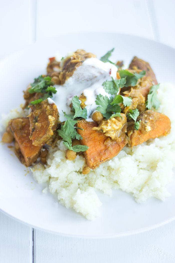 Jamie Oliver Veggie korma curry met bloemkool pilav