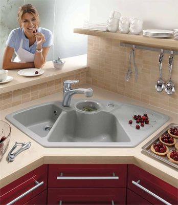 17 mejores ideas sobre fregaderos de cocina de esquina en - Soluciones para muebles de cocina en esquina ...
