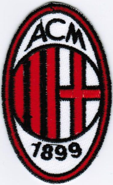 Serie A AC Associazione Calcio Milan TIM Italy Football League Soccer Patch