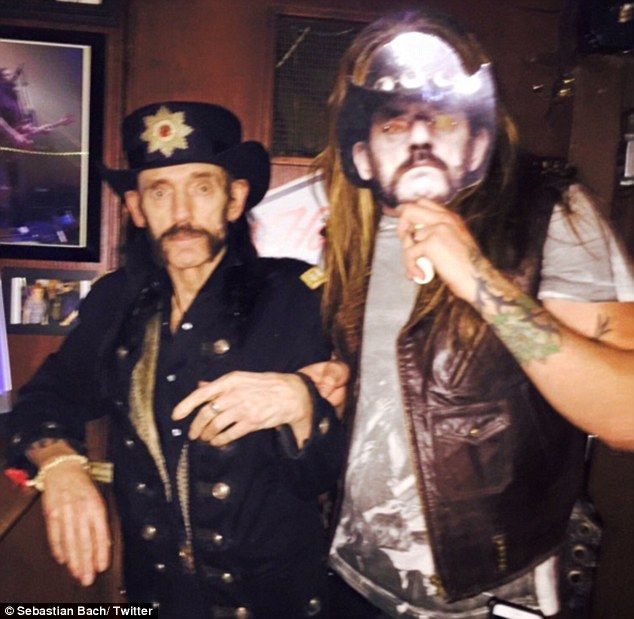 Frail: Lemmy on December 16 in a photo posted by Sebastian Bach, frontman of heavy metal band Skid Row. The picture was captioned with Ace of Spades lyrics, 'you win some, you lose some, it's all the same to me'