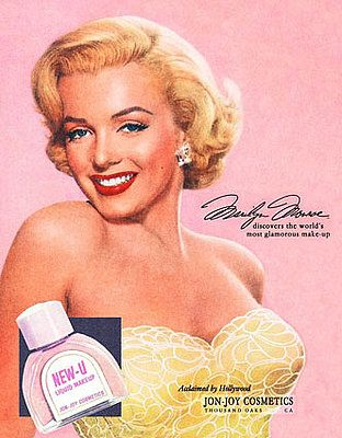 Marilyn Monroe~ New-U cosmetic's... vintage ad