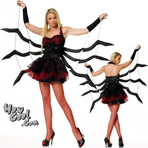 Black widow cover dance dress