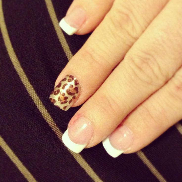My new leopard print french nails!