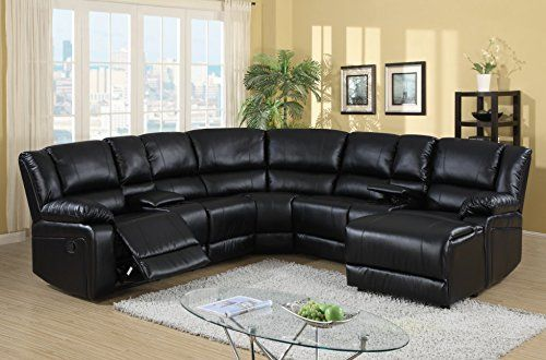 Best Amazon Price Tracking And History For Leona 5Pc Bonded Leather Sectional With Recliner 400 x 300