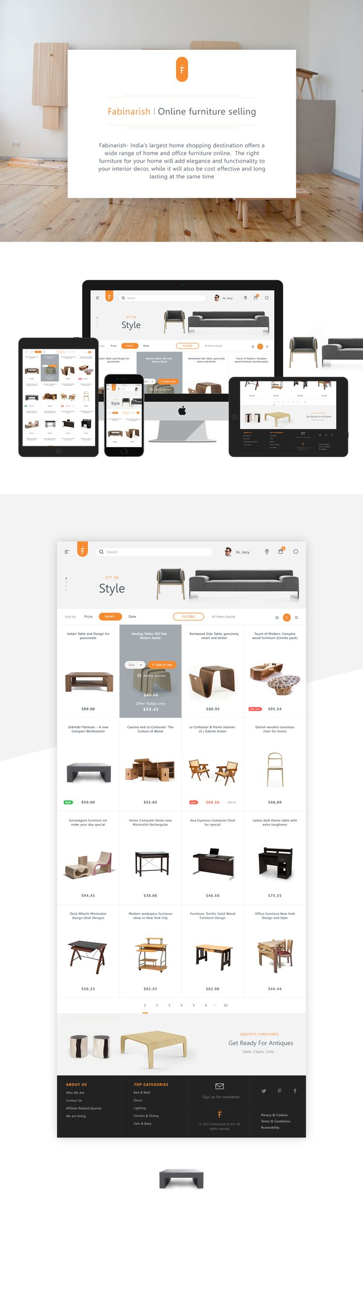 Workin On Catalog For A Furniture Website