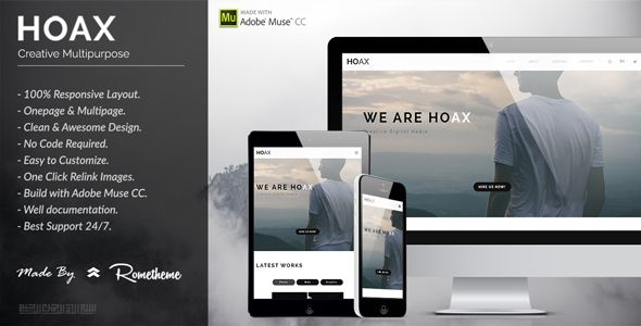 HOAX - Creative Multipurpose Muse Template - Creative Muse Templates