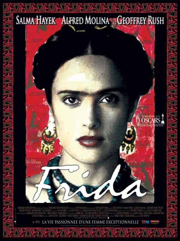 Frida est un film de Julie Taymor avec Salma Hayek-Pinault, Alfred Molina. Synopsis : Frida retrace la vie mouvementée de Frida Kahlo, artiste peintre mexicaine du XXe siècle qui se distingua par son oeuvre surréaliste, son engag