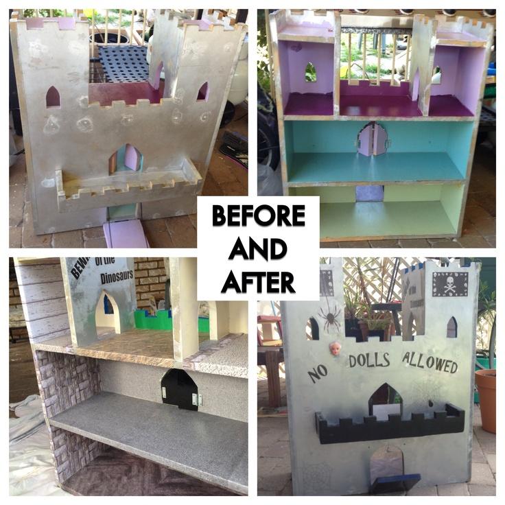 Doll house to Dinosaur Castle renovation