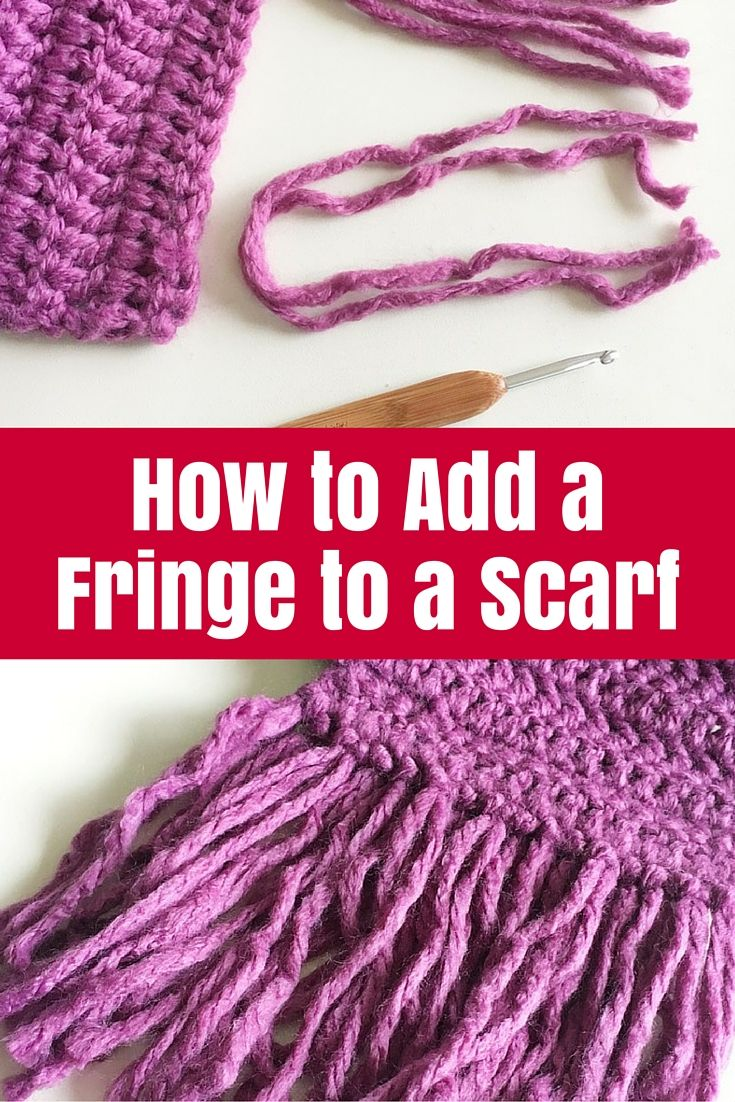 How to Add a Fringe to a Scarf - created a gorgeous scarf but need to finish it off? Add a simple fringe to a crochet or knitted scarf with this tutorial