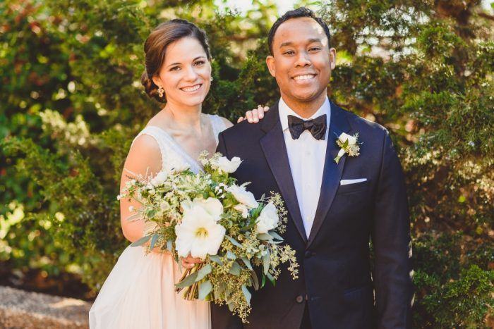 amaryllis wedding bouquet, amaryllis flower wedding, wild loose bridal bouquet, seeded eucalyptus boutonniere, black tie wedding from Josephine Butler Parks Center DC Brunch wedding
