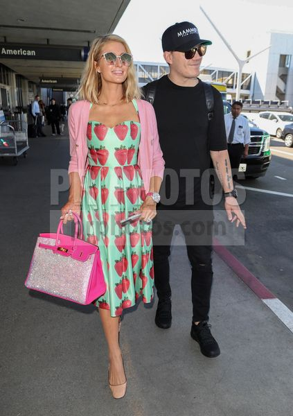 Paris Hilton and Chris Zylka Sighted at LAX Airport in Los Angeles on February 8 2018