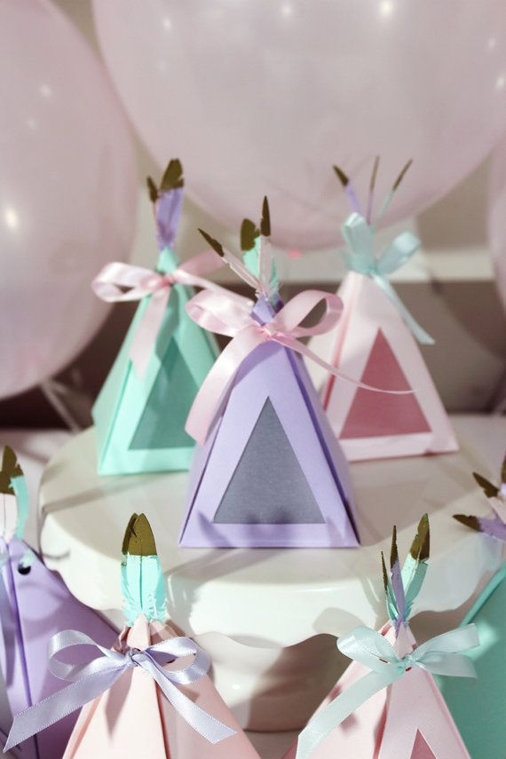 Teepee Party Favour Gift Boxes