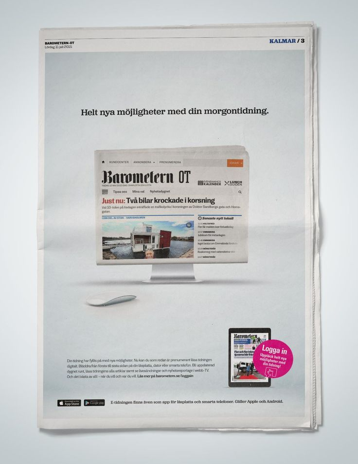 Ad for e-newspaper for #barometern