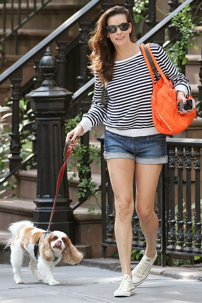 Liv Tyler and her Cavalier King Charles Spaniel Neal