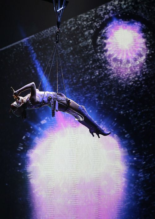 Katy Perry performing ET on The Prismatic World Tour