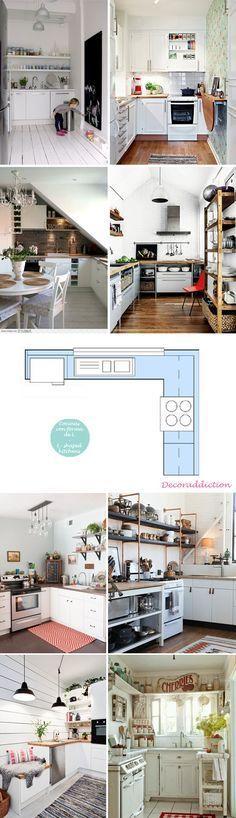 Cocinas pequeñas pero prácticas // Small but practical kitchens | http://www.decoraddiction.com/cocinas-pequenas-pero-practicas-small-but-practical-kitchens/