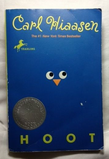 Hoot by Carl Hiaasen (2005 - Paperback) Florida Endangered Owl Mystery Newberry