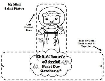 saint francis preschool catholic saints calendar activities and francis on 732