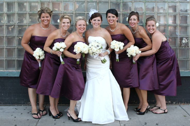 Pictures Of Wedding Party Flowers : Purple wedding all white flowers anemones