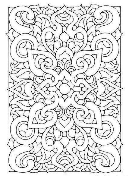 Geometric Pattern Coloring Page