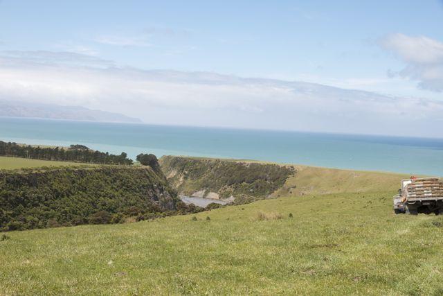 Paliser Bay and the beautiful Wharekauhau Farm and lodge.
