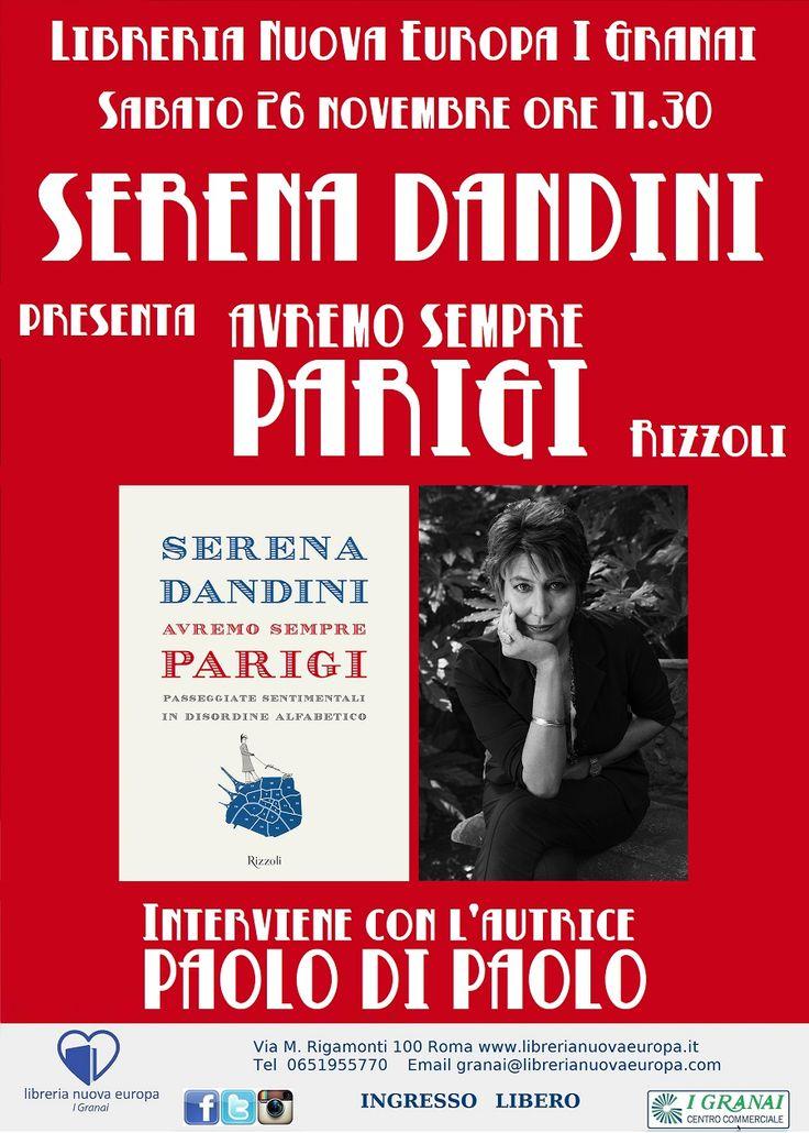 Serena Dandini presenta Avremo sempre Parigi sabato 26 novembre ore 11.30