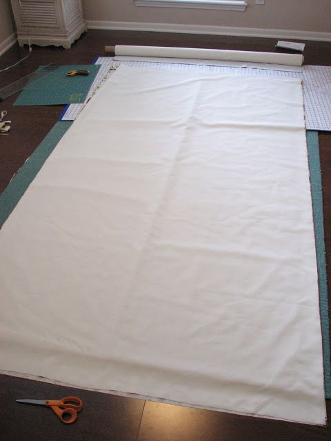 how to make basic curtains with lining