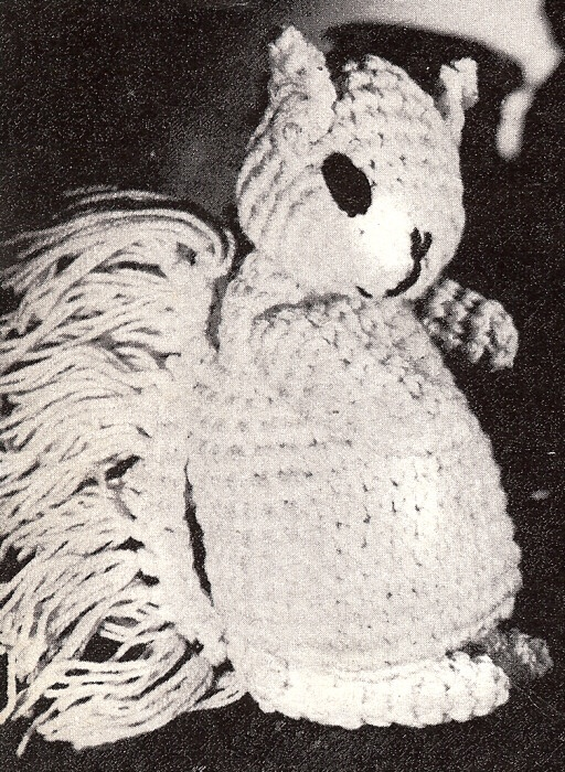 Squirrel Stuffed Animal Soft Baby Toy Crochet Pattern