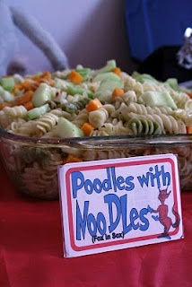 Dr. Seuss Themed Party- Great Food Naming Ideas!