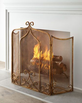 Simone Fireplace Screen on sale today $207 at Horchow - A little bit of goop for the Texan in ya -