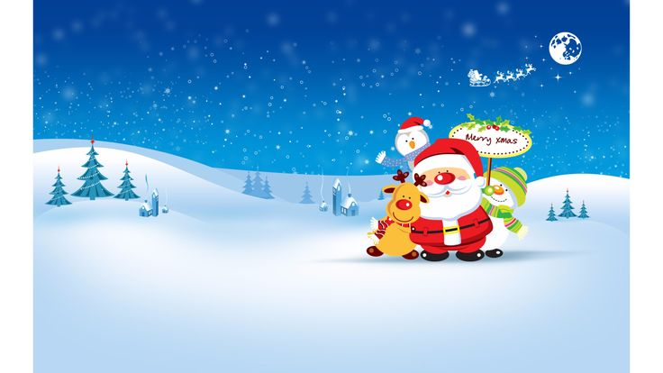 Wallpaper HD Merry Christmas and a Happy new year