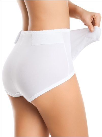 postpartum panty with adjustable belly wrap-000- White-MainImage