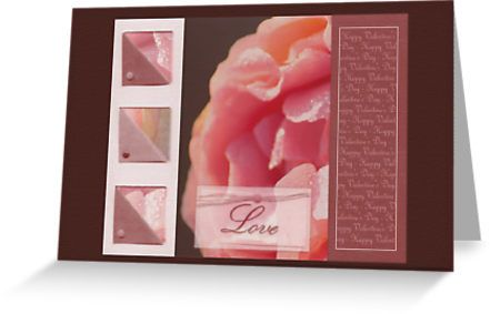 Happy Valentine's day - Pink rose - card by steppeland.  Price: €1.96 - Check discounts!