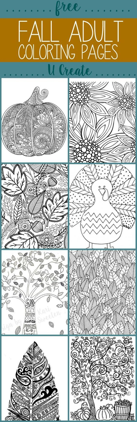 Free Fall Adult Coloring Pages: