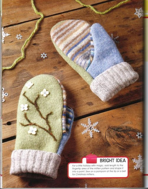 The chorradikas Laury:free baby and toddler mittens pattern