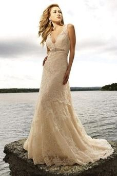 vestido novia boda playa encaje - Buscar con Google
