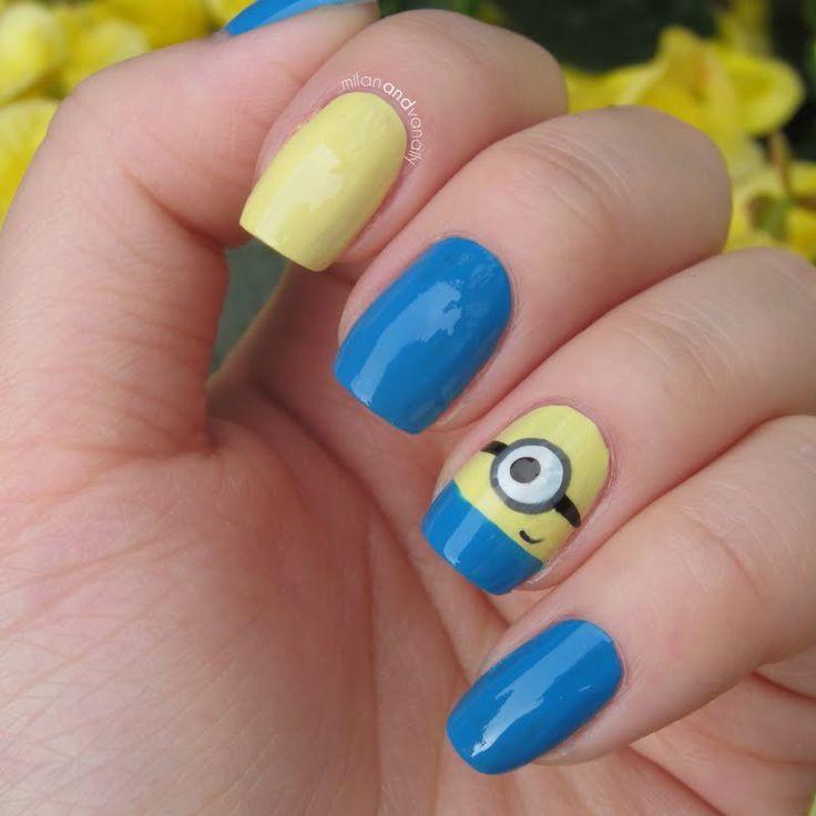 22 mejores imágenes de Nail art minion en Pinterest | Arte de unas ...
