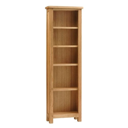 Lyon Petite Oak Slim Bookcase 5 Shelves (P362) with Free Delivery | The Cotswold Company