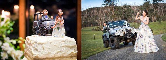 Custom Jeep Wedding Cake Topper by lynnslittlecreations on Etsy