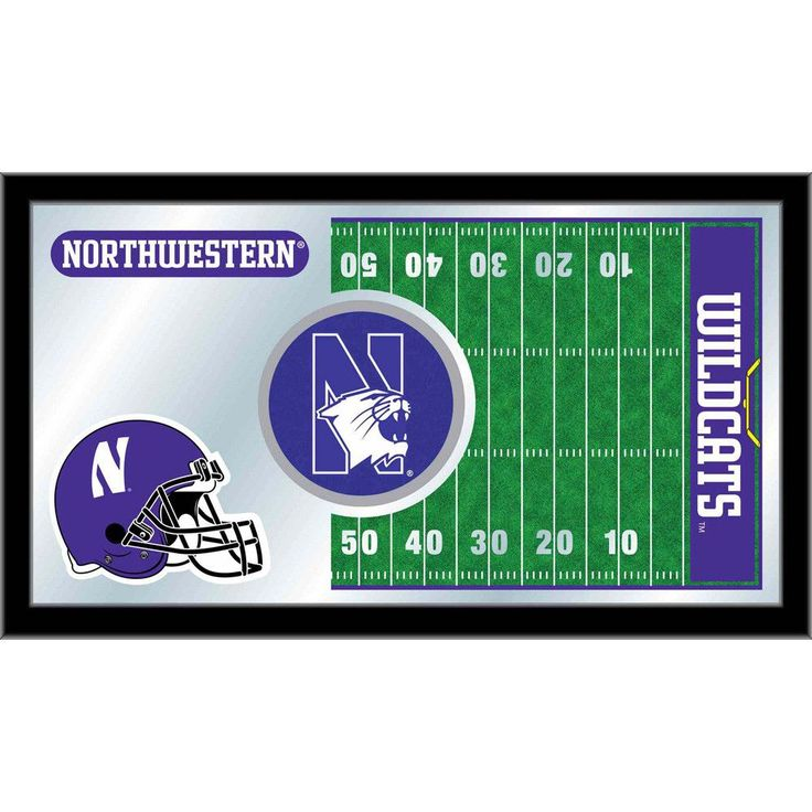 Envision yourself cheering wildly for the pigskin to go flying to the end zone, giving a high five to your friend as the Wildcats scores the points need to win the game. Striking graphics in the mirro