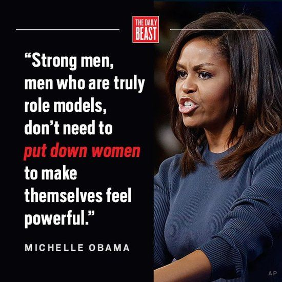 Michelle Obama quote about strong men