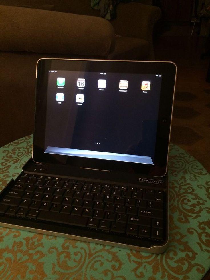 Apple iPad 1st Generation 16GB Wi-Fi + 3G (AT&T) 9.7in & Bluetooth Zagg Keyboard #Apple
