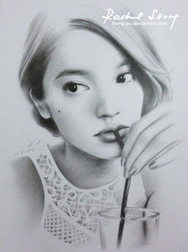 rainie yang 3 by hong yu - Pencil Drawings by Leong Hong Yu  <3 <3