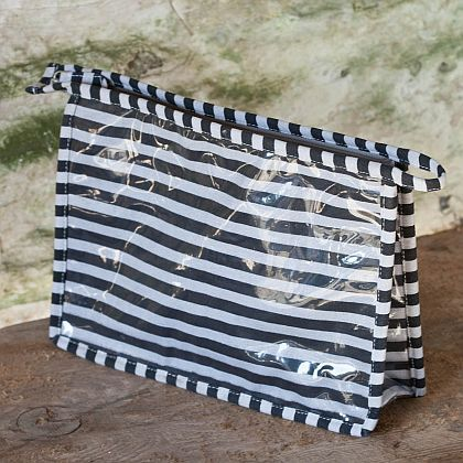 Stripy washbag