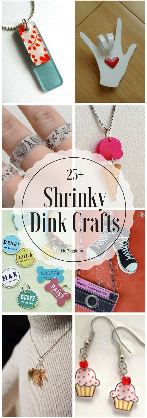 25+ Shrinky Dink Crafts | http://NoBiggie.net
