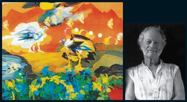 El maestro Alejandro Obregón pintó 'Amanecer en los Andes' en 1983.