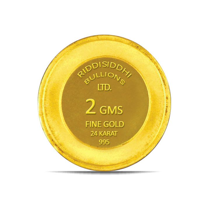 2 Gms 24 KT Gold Coin 995 Purity