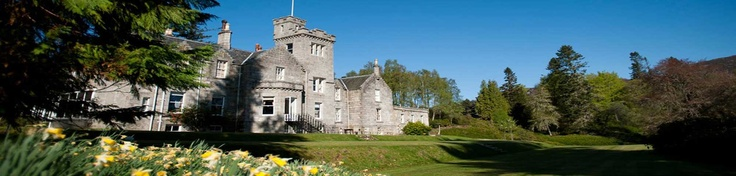 Glentruim Castle, near Newtonmore, Scotland. Exquisite 10 days in this lovely castle on the former estate of a Chieftan of Clan MacPherson. In the heart of the majestic Cairngorms.