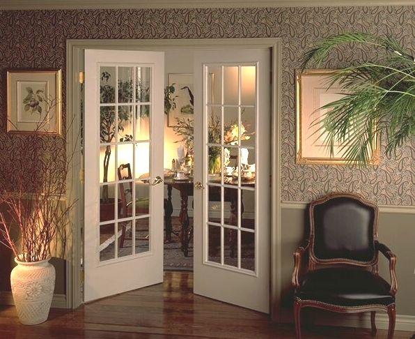 Las 25 mejores ideas sobre puertas francesas en pinterest for Puertas de madera y cristal para interiores
