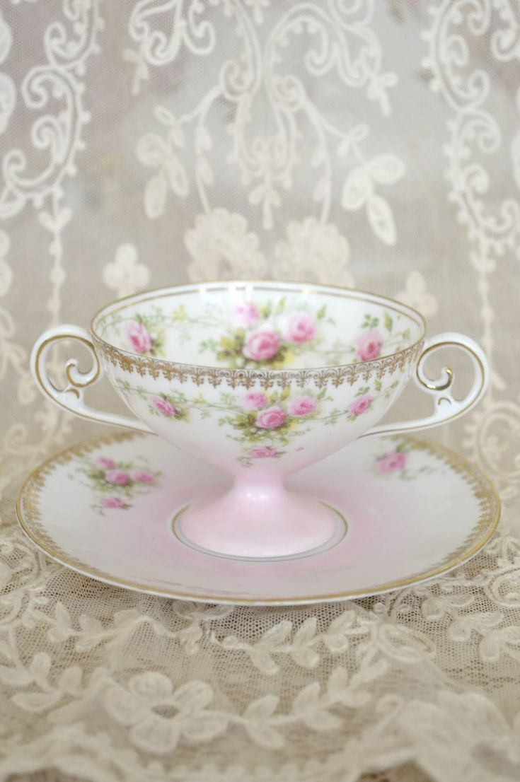 Royal albert bone china tea cup amp saucer winsome pattern ebay - Bouillon Cup With Pink Roses